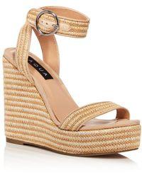 Aqua Women's Sally Espadrille Platform Wedge Sandals - Natural