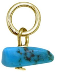 Aqua - Stone Chip Charm In Sterling Silver Or 18k Gold - Plated Sterling Silver - Lyst