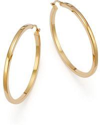 Bloomingdale's 14k Yellow Gold Endless Hoop Earrings - Metallic