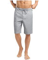 Hanro - Check Cotton Lounge Shorts - Lyst
