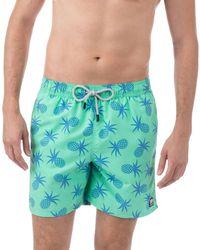 Tom & Teddy Pineapple Swim Trunks - Multicolour