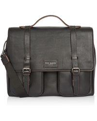 Ted Baker Finlie Leather Satchel - Black
