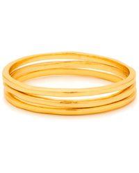 Gorjana Thin Stack Rings, Set Of 3, Size 6-8 - Metallic