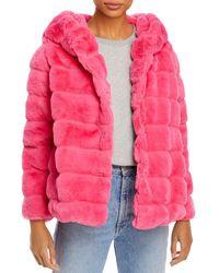 Apparis - Goldie Hooded Faux Fur Coat - Lyst