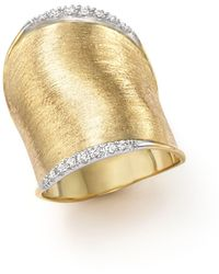 Marco Bicego - Diamond Lunaria Large Ring In 18k Yellow Gold - Lyst