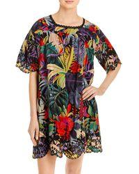 Johnny Was Shani Printed Silk Mini Dress - Multicolour