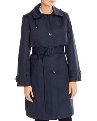 Kate Spade Single-breasted Belted Trench Coat - Blue
