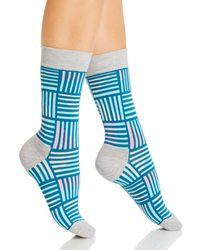 Happy Socks Printed Crew Socks - Blue