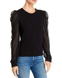 Generation Love Quinn Embellished Puff - Sleeve Top - Black