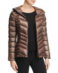 Calvin Klein Packable Short Down Coat - Brown