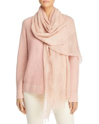 Eileen Fisher Plaid Organic Cotton Scarf - Multicolor