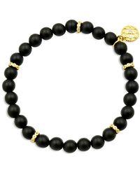 Freida Rothman Colour Theory Cubic Zirconia Beaded Stretch Bracelet - Black