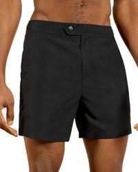 Ted Baker Solid Swim Trunks - Black