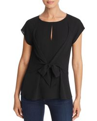 Status By Chenault - Tie - Waist Keyhole Top - Lyst