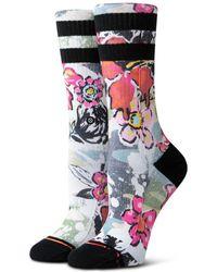 Stance Soul Flower Crew Socks - Multicolour