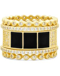 Freida Rothman Harmony Ring In 14k Gold - Plated Sterling Silver - Metallic