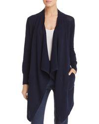 Donna Karan New York Draped Open Front Cardigan - Blue