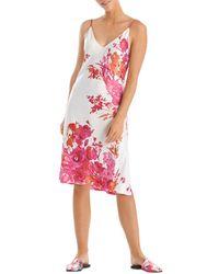 Natori Printed Slip Nightgown - Multicolour
