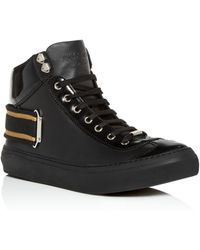 Jimmy Choo - Men's Argyle Leather High-top Sneakers - Lyst