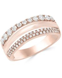 Effy Collection - Double Row Ring (5/8 Ct. T.w.) In 14k Rose Gold - Lyst