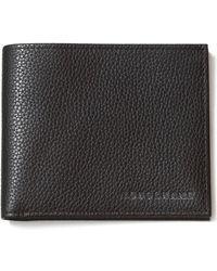 Longchamp Le Foulonné Bifold Wallet - Black