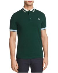 Fred Perry - Tipped Pique Short Sleeve Polo Shirt - Lyst