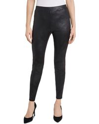 Vince Camuto Coated Ity Leggings - Black