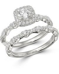 Bloomingdale's Diamond Engagement Ring & Band Set In 14k White Gold