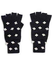 Lele Sadoughi Embellished Fingerless Knit Gloves - Multicolor