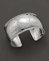 Ippolita Sterling Silver Hammered Flat Cuff - Metallic