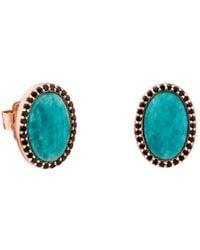 Tous | Amazonite & Black Spinel Oval Stud Earrings | Lyst