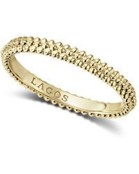 Lagos - Caviar Gold Collection 18k Gold Micro-beaded Ring - Lyst