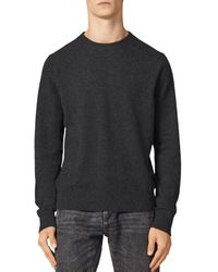 Sandro Cashmere Double - Thread Crewneck Sweater - Grey