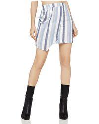 BCBGeneration - Stripe Asymmetric Mini Skirt - Lyst