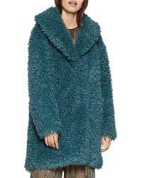 BCBGeneration Shawl - Collar Teddy Coat - Multicolour
