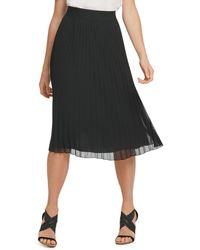 DKNY Pull - On Pleated Skirt - Black