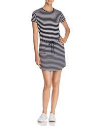 Majestic Filatures - Stripe Drawstring Mini Dress - Lyst