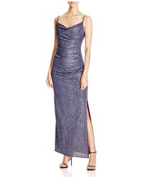 Laundry by Shelli Segal - Metallic Ruched Gown - Lyst