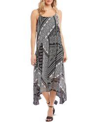 Karen Kane Mixed Bandana Print Midi Dress - Multicolour