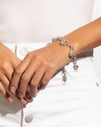 Lagos Sterling Silver & 18k Yellow Gold Love Knot Charm Bracelet - Metallic