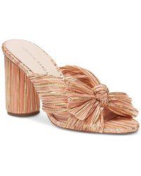Loeffler Randall Women's Penny Pleated Mhigh - Heel Slide Sandals - Multicolour