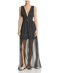 Re:named - Star-print Illusion-hem Maxi Dress - Lyst