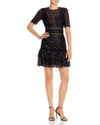 Saylor - Leopard Lace Mini Dress - Lyst