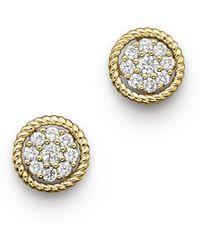 Bloomingdale's - Diamond Earrings In 14k Yellow Gold - Lyst