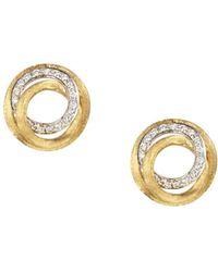 Marco Bicego Diamond Jaipur Link Stud Earrings - Metallic