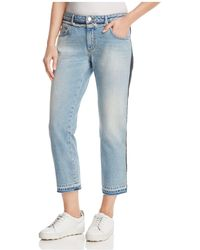 French Connection | Tuxedo Mash-up Cropped Jeans | Lyst