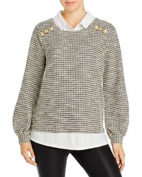 Karl Lagerfeld Knit Tweed Two For One Top - Multicolor