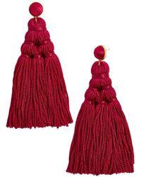 BaubleBar - Miana Tassel Drop Earrings - Lyst