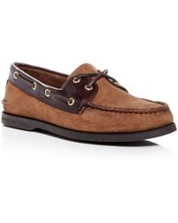 Sperry Top-Sider Authentic Original Two Eye Nubuck Leather Boat Shoes - Brown