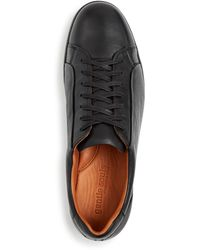 Gentle Souls by Kenneth Cole Ryder Leather Low - Top Trainers - Black